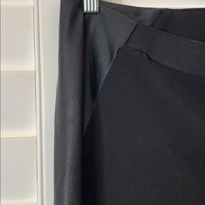 Sharagano Pants & Jumpsuits - Black dress pant with leather accents